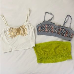 Lot of Free People bralettes & bandeau